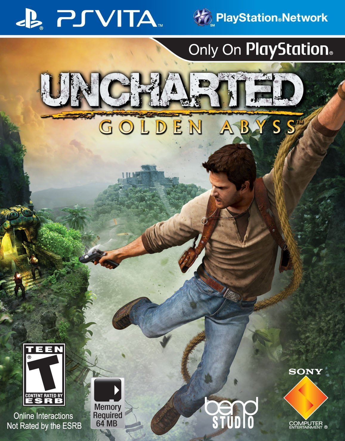 Uncharted: Golden Abyss PSVita Physical Game Cartridge US