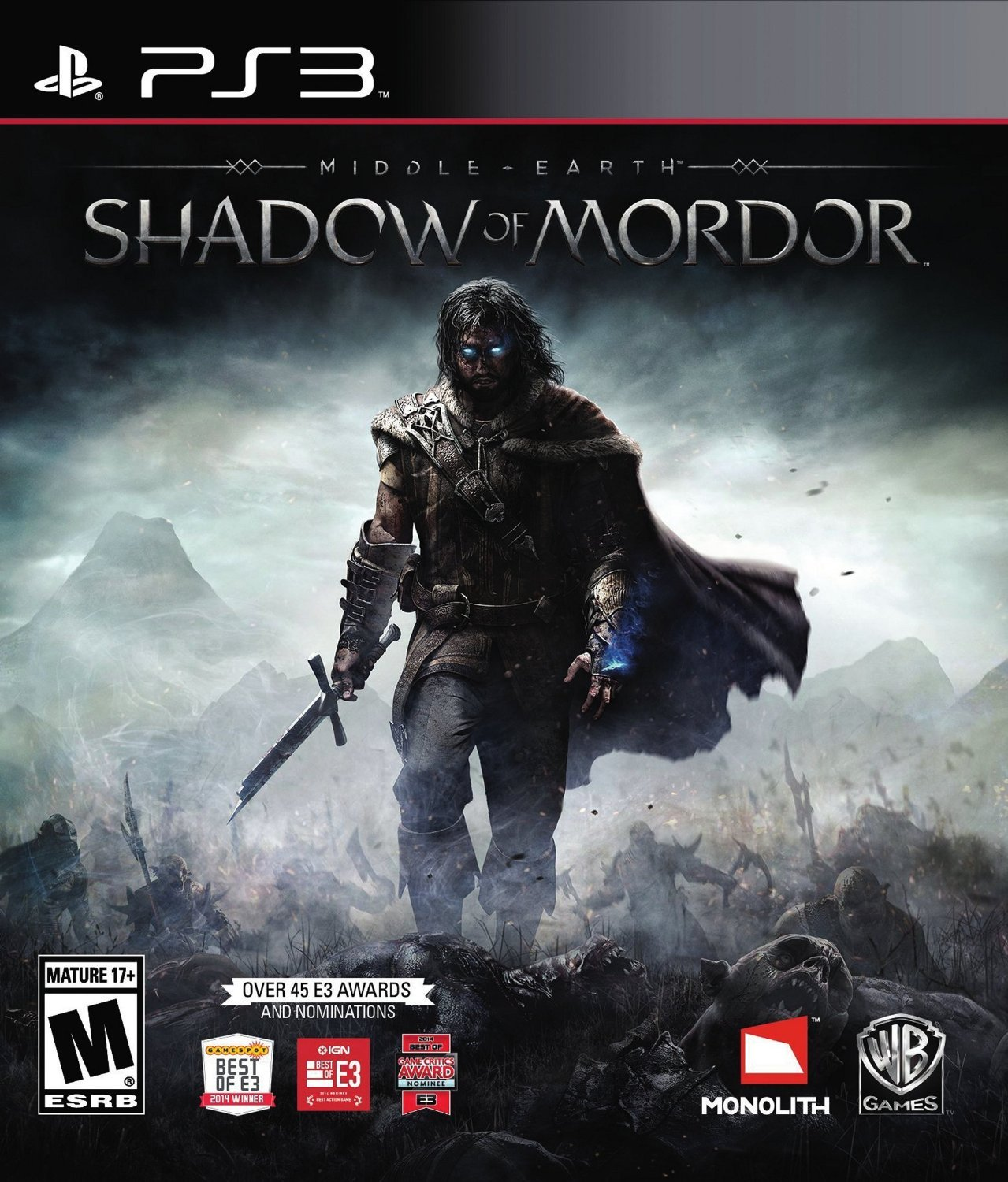 Middle Earth: Shadow of Mordor PS3 Physical Game Disc US