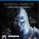 Middle Earth: Shadow of Mordor Game of the Year Edition PS4 Physical Game Disc US