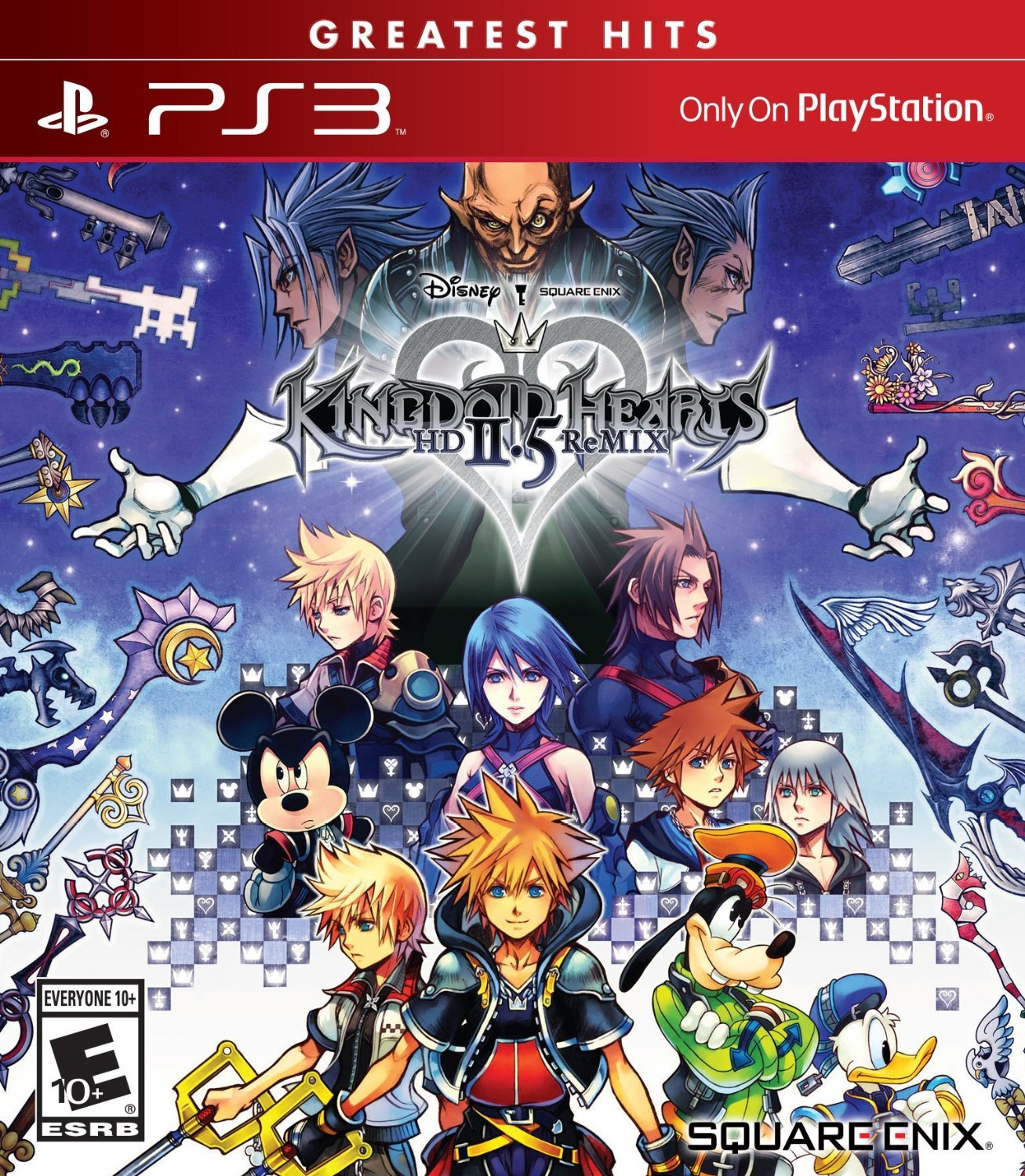 Kingdom Hearts HD 2.5 ReMIX PS3 Physical Game Disc US