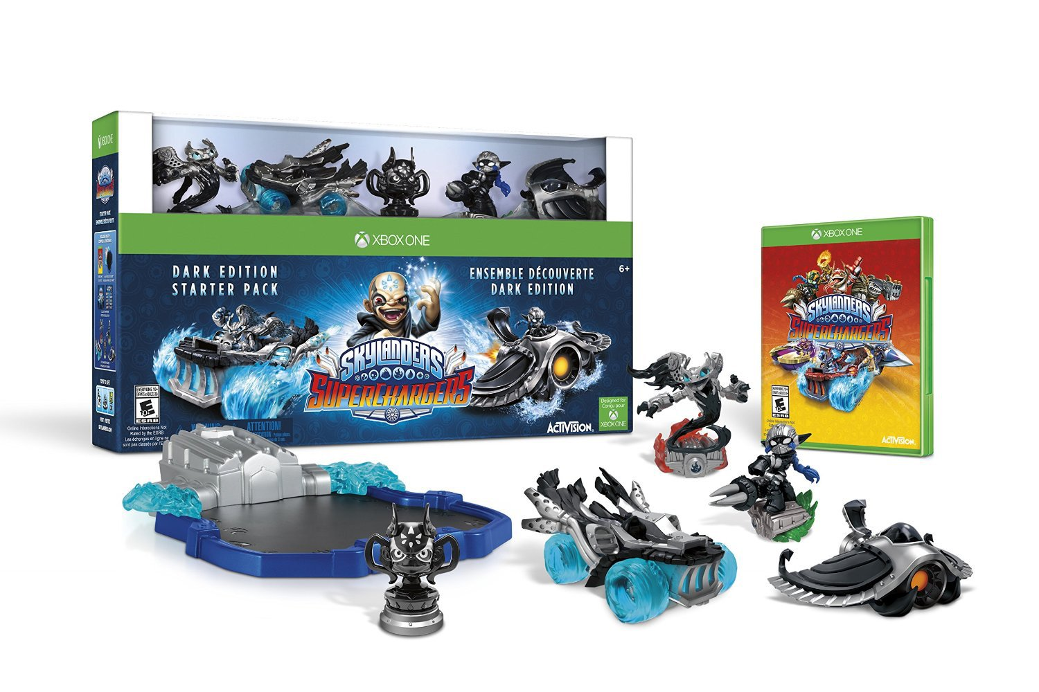 Skylanders SuperChargers Dark Edition Starter Pack Xbox One Physical Game Disc US