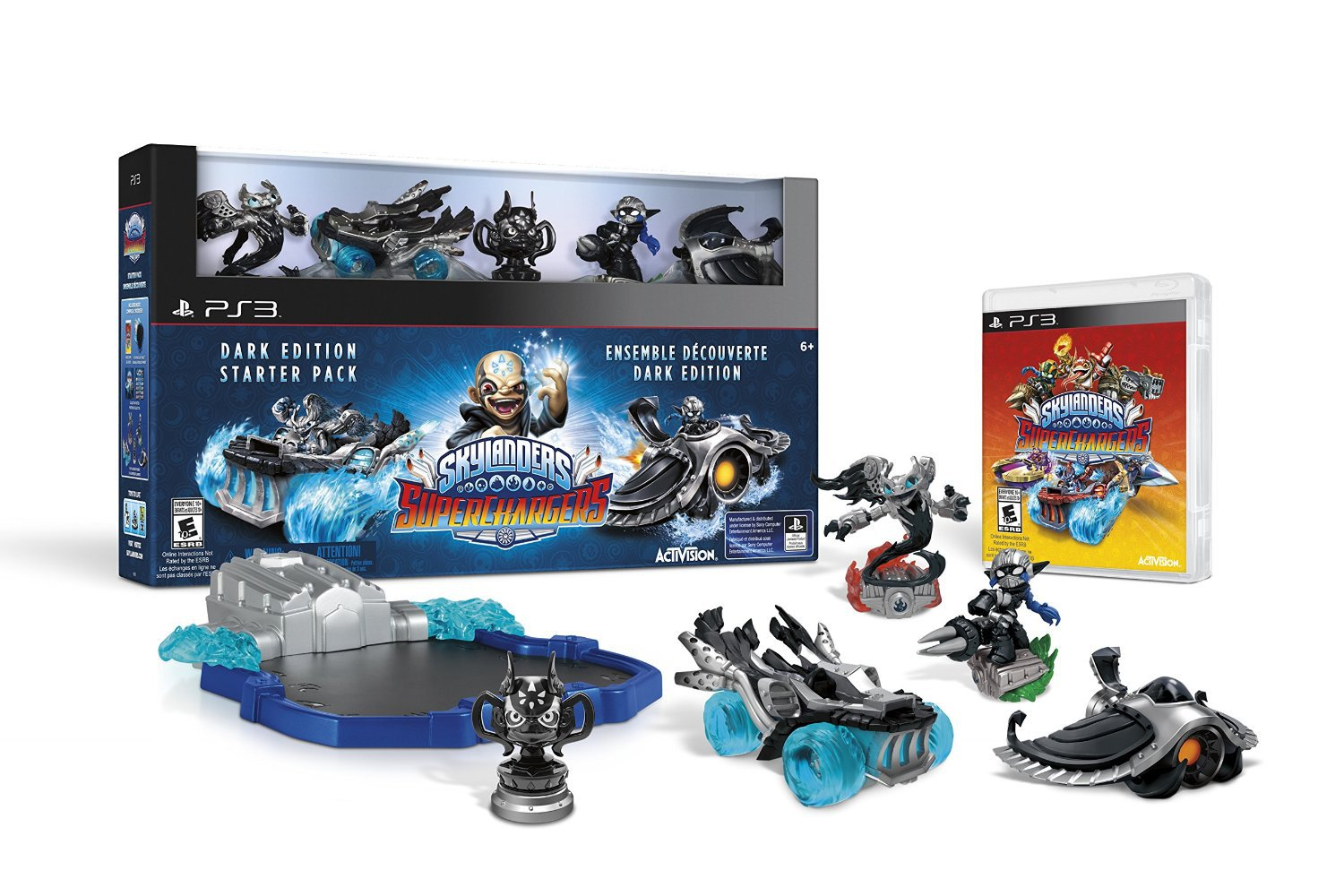 Skylanders SuperChargers Dark Edition Starter Pack PS3 Physical Game Disc US