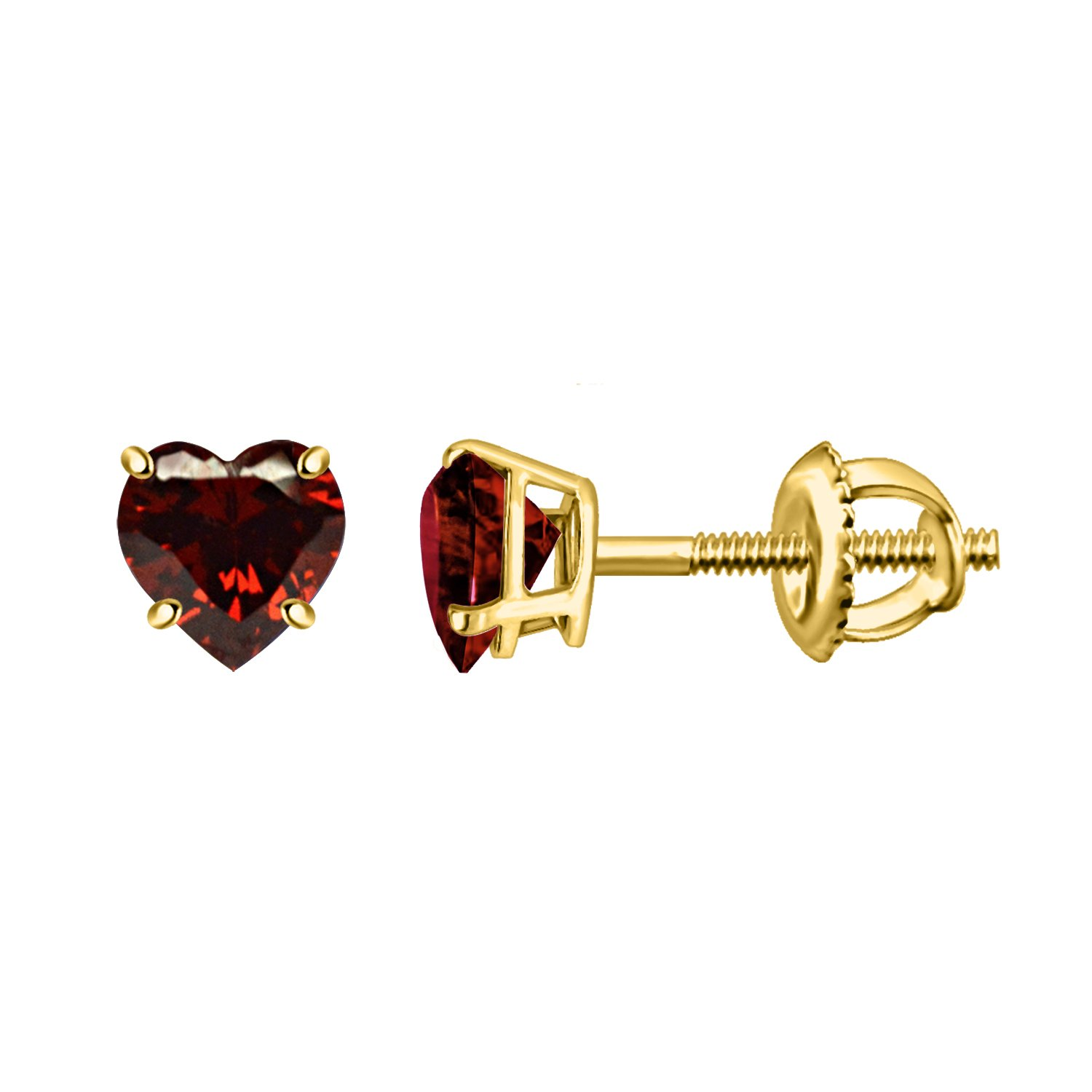 Silver Dew 925 Sterling silver Garnet Pleasing Earring For Ladies In Yellow Plated