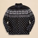 $115 Ralph lauren nordic sherpa fleece snowflake boys full zip sweater