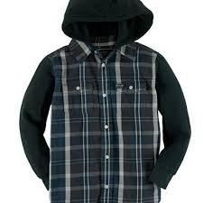 $69.50 ralph lauren boys  plaid hoodie but on down shirt