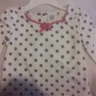 NWT Guess infant printed dots blouse 14months