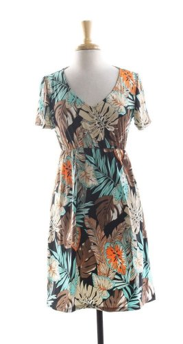 $48 tropical cover up dress. multi color.  Large. Coco Bianco. maxi
