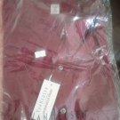 NWT 17.5-32/33 Van Heusen Poplin Mens Wrinkle Free Dress shirt. Burgundy Red.