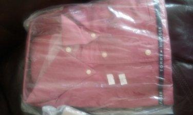 NWT 17-32/33 Tommy Hilfiger Button Down Dress shirt  cranberry red XL