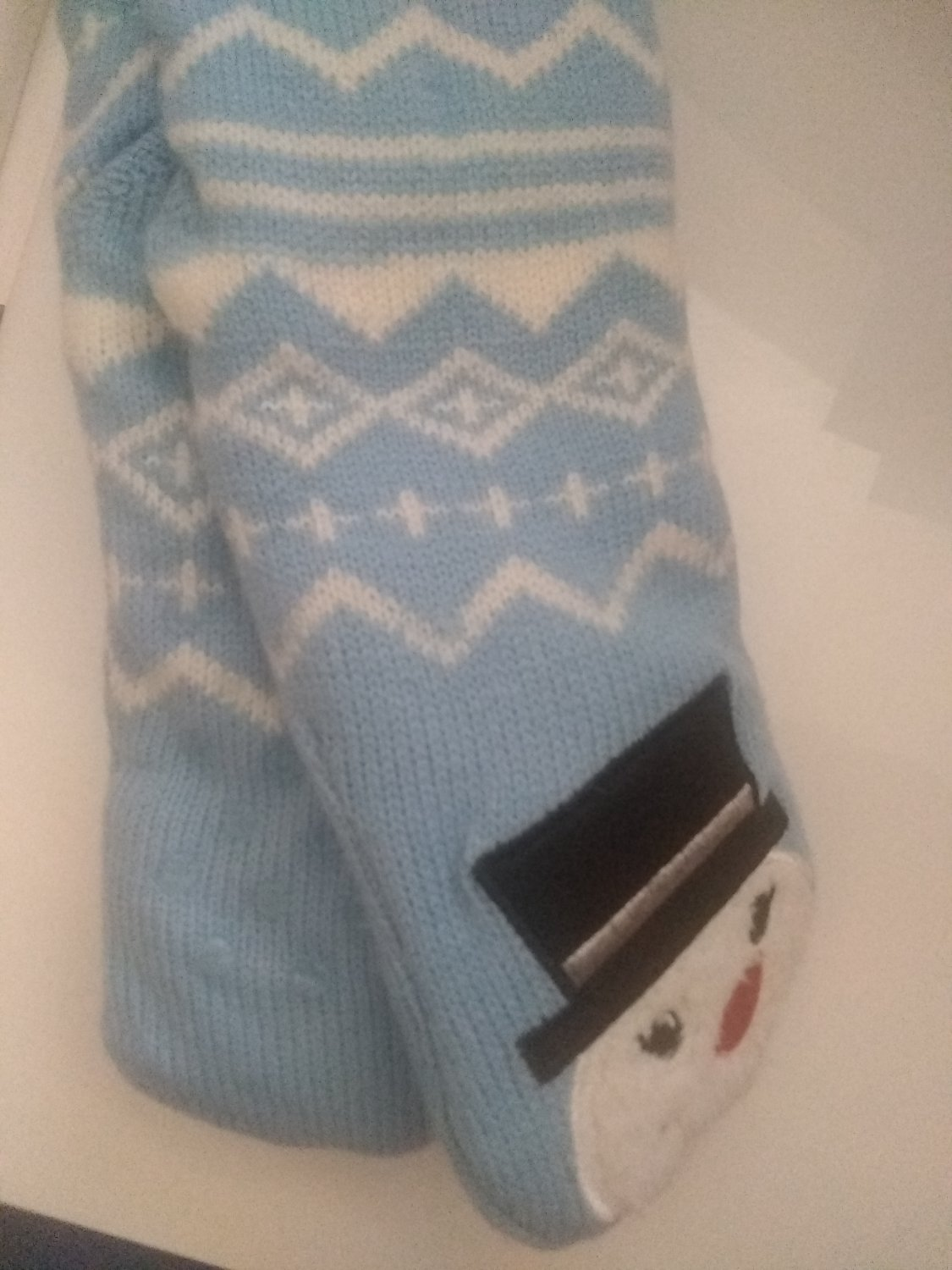 New Snow man slipper socks with grippers