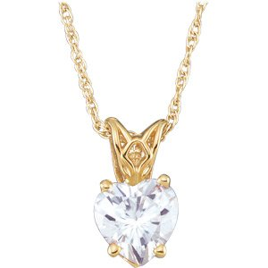 Heart Shaped Moissanite Pendant*