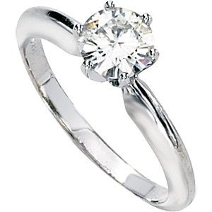 Moissanite Solitaire Engagement Ring 1/2 ct