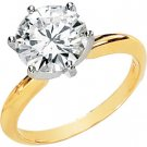 Moissanite Solitaire Engagement Ring .75 ct