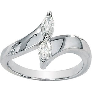 Moissanite 2-stone Marquise Ring