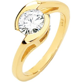 """""""Two Hands, One Heart"""" Moissanite Engagement Ring"""