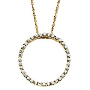 Moissanite Eternity Necklace