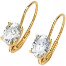 Moissanite Oval Scroll Setting Lever Back Earring*