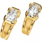 Emerald Cut Moissanite Earrings*