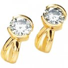 Moissanite Solitaire Earrings*