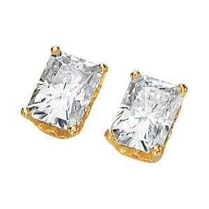 Emerald Cut Moissanite Earrings*