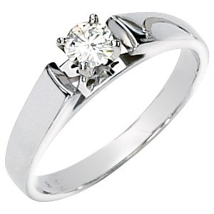 Moissanite Engagement Ring .25 ct