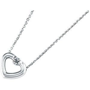 Moissanite Sweetheart Necklace