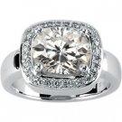 3 ct Moissanite and Diamond Dinner Ring