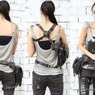 VANCY Unisex Hip Drop Leg Bag Waist Belt Bum Motorcycle Steampunk Messenger Bag