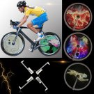 VANCYHigh Brightnessgent Smart Bike Bicycle Wheel Hub 256/416pcs Full Color LED Lamp