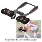 VANCY Carbon Fiber Bicycle Aerobar Bike Road Triathlon Arm Rest Handlebars Bike Racing Aero Bar