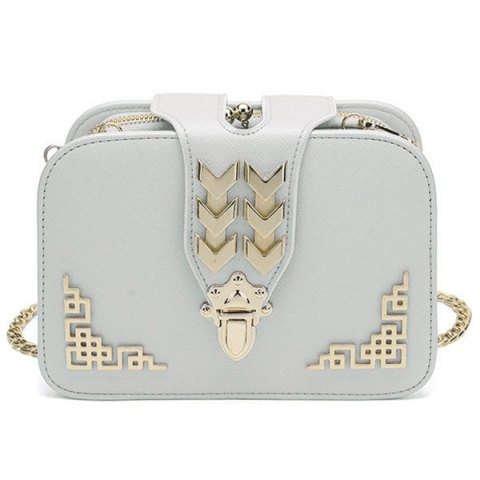 VANCY Metal Embellished Cross Body Bag Elegant and Versatile