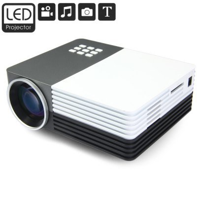 VANCY Function 80Lumens 480x320 Native Resolution Projector Support HDMI Card Input for Home Theater