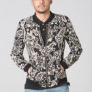 POLAR WHITES MENS BLACK PAISLEY PRINT JACKET RRP £65.00