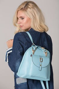 POLAR WHITES BLUE BACKPACK WITH SINGLE BUTTON POCKET (STYLE14)