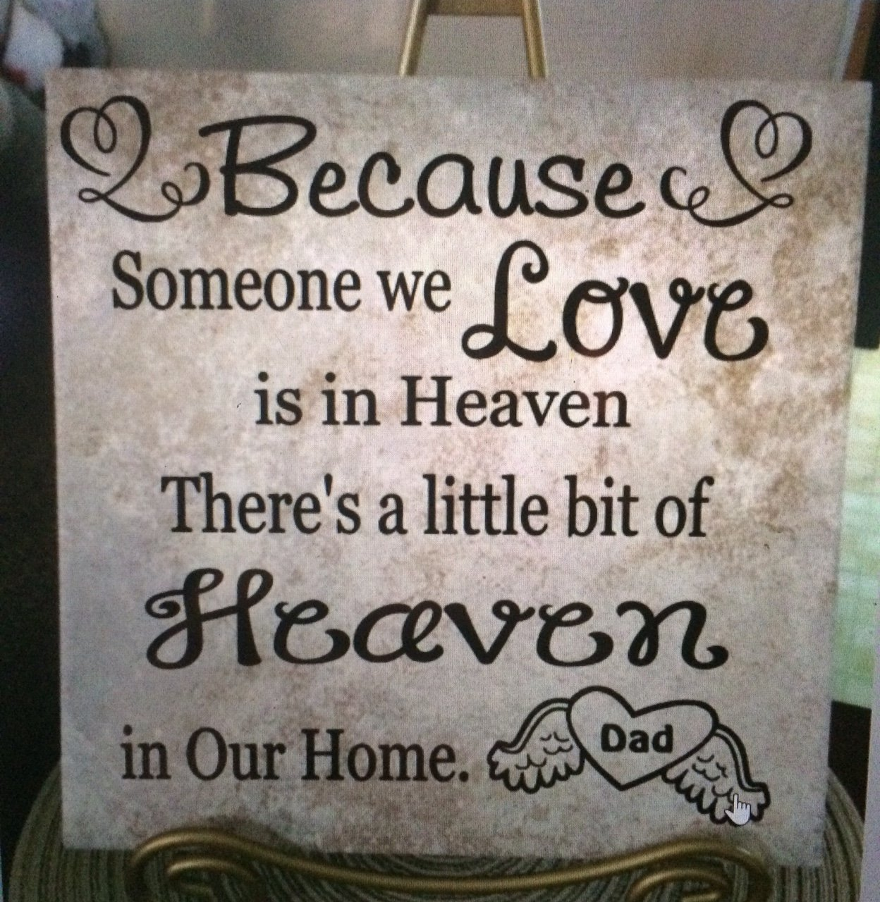 Heaven home loved one memory memorial family personalized ceramic heaven home loved one memory memorial family personalized ceramic tile 12 x 12 custom gift love dailygadgetfo Choice Image