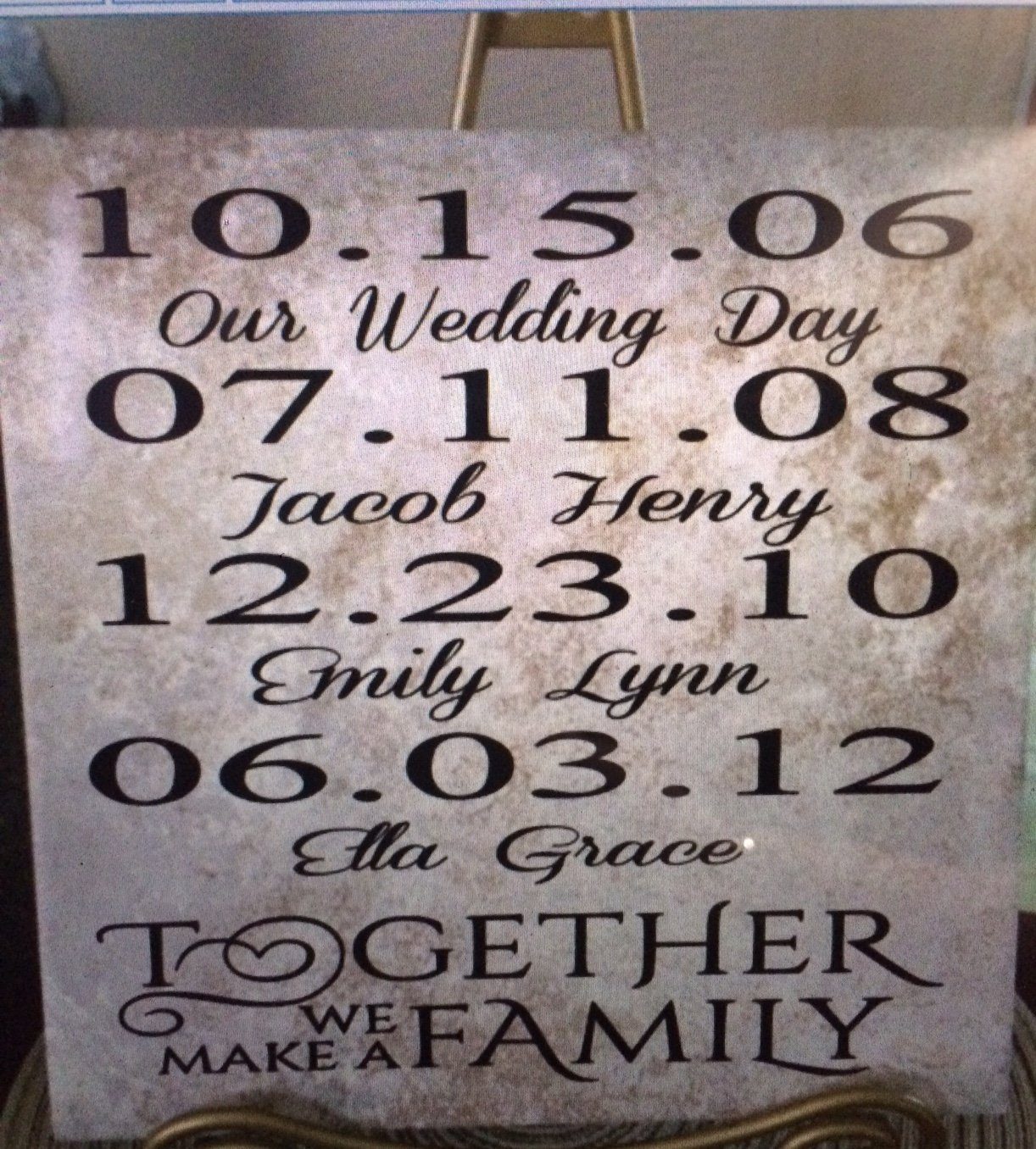 Together we make a family wedding anniversary personalized ceramic together we make a family wedding anniversary personalized ceramic tile 12 x 12 custom gift love dailygadgetfo Choice Image