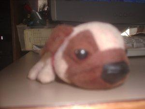 Beanie baby toys brown dog