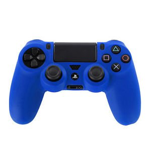 BLUE CONTROLLER SKIN COVER PS4 FREE CONTROLLER STICK COVERS PLAYSTATION 4 BLACK