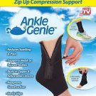 Ankle Genie As Seen On TV Sport Support Zip Up Compression Brace Sprain Sleeve