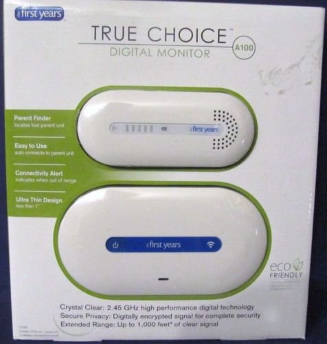 NEW The First Years True Choice Digital Baby Monitor A100 Crystal Clear Tech