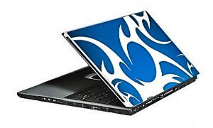 BLUE CORAL GAMER GRAFFIX PROTECTIVE SKIN WIDE SCREEN LAPTOPS REMOVABLE REUSABLE