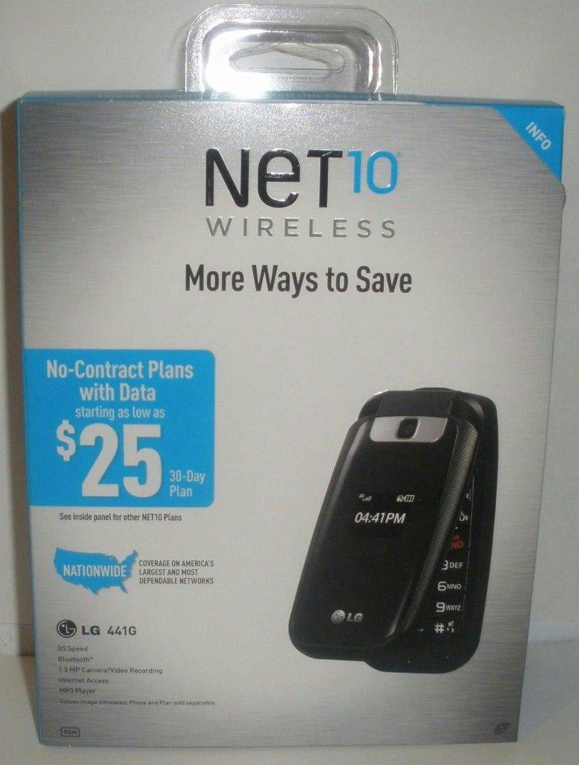 NEW NET10 LG 441G Cell Phone Prepaid Flip-Phone 3G network speed Black Camera