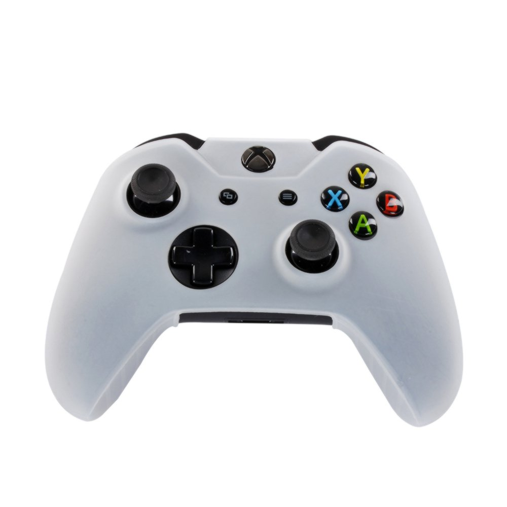 White Xbox One Controller Covers White With Free Thumb Stick Covers Xbox 1 Black Xb1