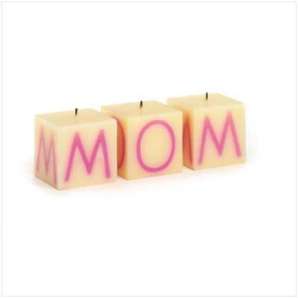 """MOM"" CUBE CANDLE SET"
