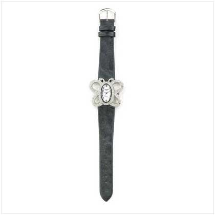BUTTERFLY JEWELED DIAL WATCH