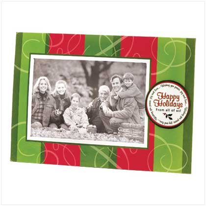 HAPPY HOLIDAYS PHOTO FRAME GREETING CARD