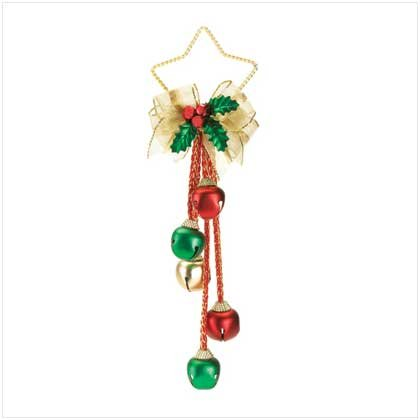 CHRISTMAS BELLS  AND HOLLY ORNAMENT
