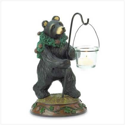 CHRISTMAS BEAR CANDLEHOLDER