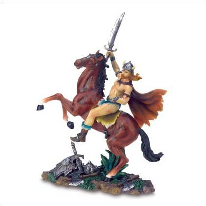 VIKING WARRIOR ON HORSE