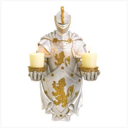 MEDIEVAL KNIGHT CANDLE HOLDER